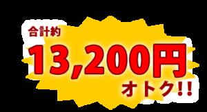 ひと月あたり合計約13200円オトク!!