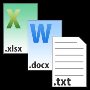 ファイルの拡張子が「.txt」のもの。もしくはその他テキスト入力が可能なファイル(「.docx」や「.xlsx」等)