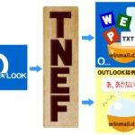 outlook TNEFを通すの図