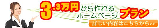 3万円から作れるホームページプラン 詳しくはこちら